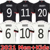 20 21 독일 축구 유니폼 험한 Kroos Gnabry Werner Draxler Reus Muller Gotze Brandt Havertz 유럽 컵 축구 셔츠 유니폼 남성 키트 키트 저지