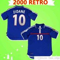 ZIDANE 2000 RETRO soccer jerseys home blue Football shirt top Uniforms Vintage VINTAGE HENRY MAILLOT Thailand Quality Classic uniforms thai quality