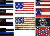 2020 bandeira americana 90cmx150cm Diretor de aplicação da lei Segunda alteração BILL BILL EU Polícia By Blue Line Americano Betsy Ross Flag HWD8413
