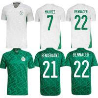 2021 2 Sterne Afrikanische Tasse Algerien Fußball-Trikots Zuhause AFCON MAHREZ FEGHOULI BRAHIMI BOUNDJAH BOUAZZA ALGERIE JERERIE FUSSBALL HEMDEN