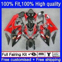 Spritzgusskorbzeuge für Suzuki GSXR1000 K5 Rot Schwarz Heiß GSX-R1000 05 06 Motorrad-Karosserie 26No.38 GSXR 1000cc 1000 CC 2005 2006 GSXR-1000 2005-2006 OEM-Verkleidung