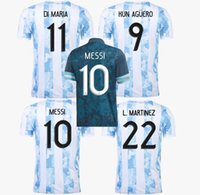 2021 Coppa del Mondo Dybala Soccer Jerseys 21 22 Messi Casa Away di Maria Aguero Thai Quality Argentina Camicie da calcio Argentina