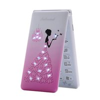 Unlocked Flip Cell phones Dual Sim Card Touch Screen Creative Girls Gifts Lady Flower Cute LED Flashlight Clamshell Fashional Student Cellphone Phone