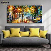 Abstract Paesaggio a olio fatto a mano su tela paesaggio coltello spessore di arte della parete immagine per soggiorno di grandi dimensioni casa decorare murale yako