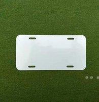 Newsublimation Aluminium-Kennzeichen leeres weißes Aluminiumblech DIY thermische Übertragung Werbeplatten benutzerdefinierte logo 15 * 30 cm 4löcher EWF6089