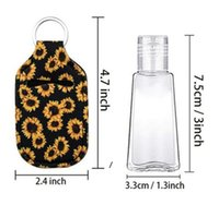Sanitizer Holder Neoprene Hand Sanitizers Bottle Party Favor Lipstick Lip Cover Handbag Keychain Printing Chapstick 30ml HHE6419