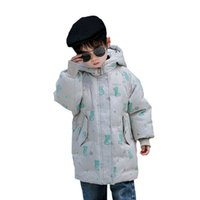 Children Down Coat Kids Winter Outwear Clothing Baby Boys Clothes Girls Childrens Jacket Wear Long Hooded Printed Coats Warm B8418