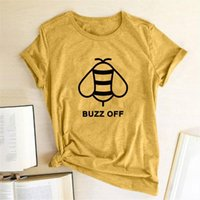 Bee Buzz Off Print and Mens t Shirt Women Summer Short Sleeve for Loose Tee Femme Tops Clothes Camisetas Mujer