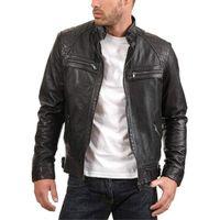 Serin Stil Erkekler Sahte Kürk Deri Ceket Siyah Kahverengi Slim Fit Sıcak Açık Rüzgar Geçirmez Biker Ceket Erkek Moda Fermuar Katı Ceket