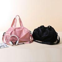 Duffel Bags 2021 Travel Cabin Luggage Fashion Female Fitness Yoga Shoe Pocket Waterproof Nylon Weekend Sport Bag For Women Handbag
