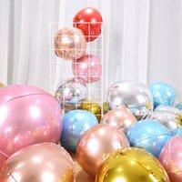 20 قطع روز الذهب والفضة 4d كبير جولة المجال شكل احباط بالونات استحمام الطفل زفاف عيد ميلاد حزب ديكورات الهواء الكرة 1308 v2