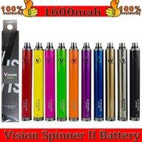 Visão Spinner 2 II 1600mAh Ego C Twist Vision2 Bateria E Cigs Cigarros Eletrônicos Ego Atomizador Clearomizer Colorido DHL EC003