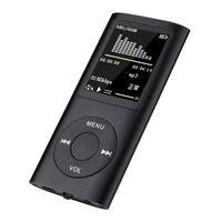 مشغل MP3 HIFI Music Walkman المحمولة مع وظيفة تسجيل البث FM يدعم مشغلات MP4 متعددة اللغات