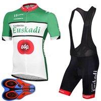 EUSKADI Takım Ropa Ciclismo Nefes Mens Bisiklet Kısa Kollu Jersey ve Şort Set Yaz Yol Yarış Giyim Açık Bisiklet Üniforma Spor Takım S21050602