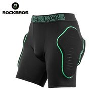 ROCKBROS Cycling Shorts Snowboard Breathable wicking Soft Sport Skiing SBR Shock Absorption Protection Padded Short