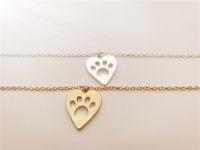 Corazón perro cachorro perro oso gato amor escuchado decoupage animal pata impresión encanto pulsera joyería