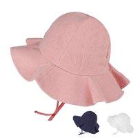 Caps & Hats Summer Baby Bucket Cap Kids Children Floral Panama Hat Outdoor Beach Sun Lovely Lace Princess Brim