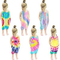 2021 Kindermode-Druck Strampler Kleinkind Mädchen Jungen Jumpsuit Sleeveless Sommer Kinder Insgesamt Einteilige Bodysuits Kleidung G42SX8Z