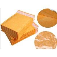 Kraft Golden Paper Wrap Air Mail Sacs Packing PE Bubble Coussin Coussin rembourré Cadeau 110mm * 130mm 4.3 * 5.1in 6La4