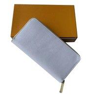 Мужские кошельки и женские кошельки дизайнер топ высококачественные моды модные монеты карт карт держателей кожаных кожаных длинных стилей монеты карманные 3 цветов оптом B58