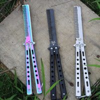 Katlanabilir Tarak Kelebek Bıçak Tarak Paslanmaz Çelik Uygulama Eğitim Tarak, Berber Saç Aksesuarları
