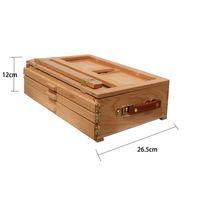 Art Artista Ajustável Beech Madeira Tabletop Sketch Box Easel 3-Gaveta Portátil 660 S2