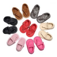 WEIXINBUY Summer Baby Shoes Girl Boy flip flops Pu Leather Lace Up Baby Peep Toe Flat Brand Toddler Beach First Walkers shoes1
