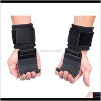 Спортивные перчатки 2 шт. Подъемно-подъемные Рукоятки Наручные Ремни Перчатки Весного вещества Прочность тренировочный тренажерный зал Фитнес-крючок Q56SI 61KV5