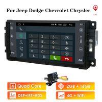 1 din android 10.0 سيارة GPS لاعب ل Dodge Caliber / Journey / Challenger / Dakota / Durang / Avenger / Ram Pickup Series شيفروليه