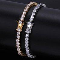 Designer Mens Bracelets Hip Hop Jewelry Diamond Tennis Bracelet Iced Out Hiphop Bling Bangles Luxury Charm Rapper Gold Sier Drop Delivery 20