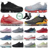 أحذية الجري Nike Air Max Vapormax للرجال والنساء 2020 360 للعدائين بالليزر البرتقالي المعدني والذهبي ثلاثي أسود أبيض أحذية رياضية رياضية