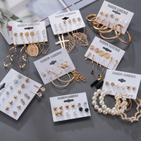 Orecchini da donna orecchini coreani orecchini per le donne vintage perla farfalla oro croce orecchino set 2021 orecchini di tendenza gioielli femminili