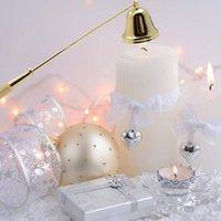 웨딩 촛불 소화기 스테인레스 스틸 촛불 심지 트리머 오일 램프 가위 커터 벨 모양의 향기로운 촛불 단속
