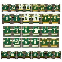 RA Vintage Minnesota Stelle del Nord Jersey 19 Bill Masterton 30 Cesare Maniago 8 Bill Goldsworthy 11 JP Parise Lou Nanne Neal Broten Retro hockey