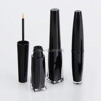 Schwarzer Kunststoff leere Wimpernkleber nachfüllbare Flasche, kosmetische Eyeliner Flüssigkeitsrohr, Makeup Wachstumspender Lagerflaschen Gläser