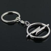 5pcs / lot Auto Metal 3D Key Keychain Porte-clés Chaîne Porte-clés pour Llavero Mode Opel Chaveiro Pendentif Accessoires en gros MLXAP
