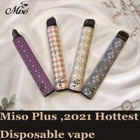 85+ Colore Misurabile VAPE MISO PLUS E Cigarette 800 PUFFS 2.4ML ECIG POD Dispositivo di cartucce vuote VS Puff Bar Plus