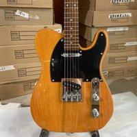 Rare 1952 Mahogany Natural Tele Butterscotch Blonde Electric Guitar Black Pickguard, Vintage Tuners, Custom Shop V logo, Rosewood Fingerboard, Chrome Hardware