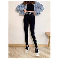Impresso fundo de moda esportes de cintura alta leggings colegas de mulher elástica grande yoga calça magro