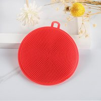 실리콘 접시 그릇 청소 브러시 다기능 5 색 정련 패드 냄비 팬 워시 브러쉬 청소기 주방 세척 도구 EEB6446
