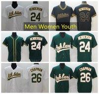 Мужчины Женщины Молодежный ОклендАтлетика Бейсбол Джерси 26 Мэтт Чапмен Джерси 24 Рикки Белый Домашний Размер -xxxl