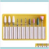Kits Art Salon Health & Beautyset Grinder Nail Drill Bits Alloy Tungsten Steel Ceramic Files Sanding Head Polishing Manicure Tools Kit1 Drop