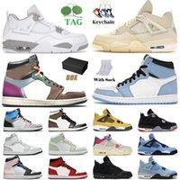 Jordan 1 1s Basketball Shoes Women Men University Blue High Hand Crafted Seafoam Mid Pink Grey Jumpman 4 4s Cactus Jack White Air Jorden Retro Jordan1s Jordan4s Off