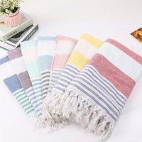 Towel 100% Cotton Turkish Bath Beach Spa Sauna Yoga Fringed Jacquard Magic Mat Blanket Portable Sand Travel