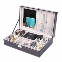 High End Watch Box Necklace Ring Packing Design Pu Leather Jewelry Case Princess Display Holder Women Gift With Lock Wrap