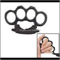 Gadgets en plein air Spades Knuckle Dusters Alliage métal Enliage Knuckles Tool d'autodéfense Outil de sécurité personnelle Fisteries Boxe Glov X3bod