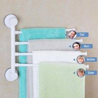 Porta asciugamani a quattro braccio Portamonete Rotante Impermeabile Bagno Impermeabile Cucina Appendiabiti a muro Appendiabiti in plastica Tazza di ventosa
