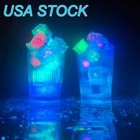 LED cubetti di ghiaccio cambio luci lampade di alta qualità celebrazione di nozze celebrazione della luce del sensore dell'acqua per la fornitura del partito Usalight