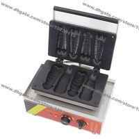 Uso comercial antiadherente 110V 220V Penídico eléctrico Penis en forma de waffle Maker Machine Baker Hierb