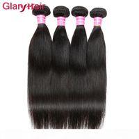 Malesian Virgin Hair Bundles 4 Pz Mink Brasiliano Capelli Bundles Indiano Peruviano Straight Weave Virgin Human Treiding Trezzoli per capelli Cambogiana